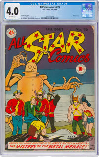All Star Comics #26 (DC, 1945) CGC VG 4.0 Off-white pages