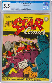 All Star Comics #28 (DC, 1946) CGC FN- 5.5 Slightly brittle pages