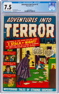 Adventures Into Terror #3 (Atlas, 1951) CGC VF- 7.5 Cream to off-white pages