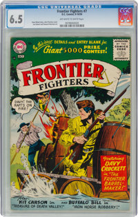 Frontier Fighters #7 (DC, 1956) CGC FN+ 6.5 Off-white to white pages