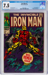 Iron Man #1 (Marvel, 1968) CGC VF- 7.5 Off-white to white pages