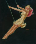 Paintings, Al Buell (American, 1910-1996). The Swinger. Oil on board. 21-1/2 x 17 inches (54.6 x 43.2 cm). Signed lower right. ...