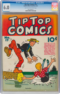 Tip Top Comics #17 (United Feature Syndicate, 1937) CGC FN 6.0 Light tan to off-white pages