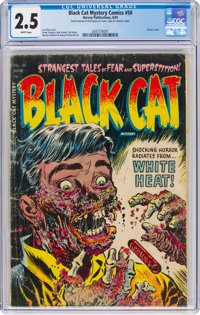 Black Cat Mystery #50 (Harvey, 1954) CGC GD+ 2.5 White pages