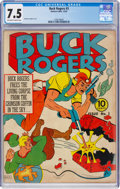 Golden Age (1938-1955):Science Fiction, Buck Rogers #3 (Eastern Color, 1941) CGC VF- 7.5 Off-white to white pages....