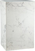 Carvings, A White Marble Pedestal, 20th century. 29 x 18 x 14 inches (73.7 x 45.7 x 35.6 cm). ...