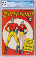 Golden Age (1938-1955):Superhero, Bulletman #2 (Fawcett Publications, 1941) CGC FN/VF 7.0 Off-white to white pages....