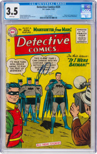 Detective Comics #225 (DC, 1955) CGC VG- 3.5 White pages