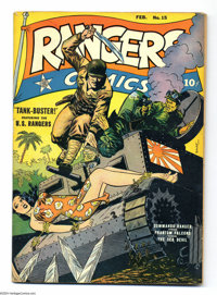Rangers Comics #15 (Fiction House, 1944) Condition: FN. George Tuska, Lily Renee, Lee Elias, Graham Ingels, Saul Rosen...