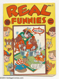 Golden Age (1938-1955):Funny Animal, Real Funnies #1 (Nedor Publications, 1943) Condition: VG+. Funnyanimal, humor book. Black Terrier appearance (clone of Blac...