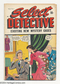 Select Detective #1 (D.S. Publishing, 1948) Condition: VG+. Matt Baker art. / Overstreet 2004 VG 4.0 value = $58
