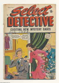 Select Detective #1 (D.S. Publishing, 1948) Condition: GD/VG. Matt Baker art. Overstreet 2004 GD 2.0 value = $29; VG 4.0...