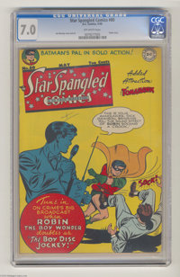 Star Spangled Comics #80 (DC, 1948) CGC FN/VF 7.0 Off-white pages. Jim Mooney cover. Mooney, Win Mortimer, and Fred Ray...