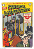 Golden Age (1938-1955):Science Fiction, Strange Adventures #8 (DC, 1951) Condition: GD. One of the first ofDC's many gorilla covers (by Win Mortimer). Alex Toth an...