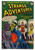 Golden Age (1938-1955):Science Fiction, Strange Adventures #14 (DC, 1951) Condition: FN-. Starring CaptainComet. Robot cover. Murphy Anderson, Carmine Infantino, a...