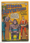 Golden Age (1938-1955):Science Fiction, Strange Adventures #39 (DC, 1953) Condition: VG-. Starring CaptainComet. Gorilla cover. Used in Seduction of the Innocent...