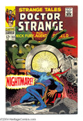 Silver Age (1956-1969):Horror, Strange Tales #164 (Marvel, 1968) Condition: VF/NM. FeaturingDoctor Strange and Nick Fury. Jim Steranko art. Overstreet 200...