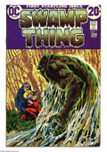 Bronze Age (1970-1979):Horror, Swamp Thing #1 (DC, 1972) Condition: VF. Revised origin of thecharacter. Bernie Wrightson cover and art. Overstreet 2004 VF...