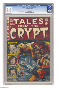 Tales From the Crypt #35 Gaines File pedigree 11/11 (EC, 1953) CGC VF/NM Off-white pages. Jack Davis cover. Davis, Joe O...