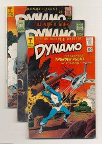 Tower Comics Group (Tower, 1966-67) Condition: Average FN/VF. This group includes Dynamo #1, 2, and 4, Noman #1 and...