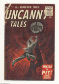 Silver Age (1956-1969):Horror, Uncanny Tales #45 (Atlas, 1956) Condition: VG. Mort Drucker art.Overstreet 2004 VG 4.0 value = $36....