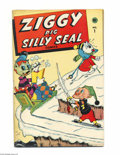 "Golden Age (1938-1955):Funny Animal, Ziggy Pig - Silly Seal Comics #1 (Timely, 1944) Condition: FN.Overstreet notes ""vs. the Japs"". Overstreet 2004 FN 6.0 value..."