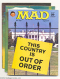 """Magazines:Mad, Mad Group (EC, 1971-1994) Condition: Average VF. This groupincludes #142, 144, 146, 149, 159, 164, 208 (""""Superman"""" and """"Bat...(Total: 27 Comic Books Item)"""