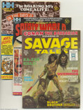 Bronze Age (1970-1979):Miscellaneous, Miscellaneous Comic Magazines Group (Various, 1971). This groupincludes Savage Tales #1 (VF+, the origin and first appe... (Total:4 Comic Books Item)
