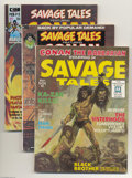 Bronze Age (1970-1979):Miscellaneous, Savage Tales Group (Marvel, 1971-74). Issue #1, featuring theorigin and first appearance of Man-Thing with Gray Morrow art,...(Total: 3 Comic Books Item)