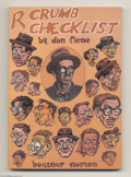 Modern Age (1980-Present):Alternative/Underground, R. Crumb Checklist Softcover (Boatner Norton Press, 1981)Condition: VF/NM. This is the first softcover printing of thissup...
