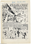 Original Comic Art:Complete Story, Art Gates - Speed Comics #24 Complete 6-page Crash Cork and TheBaron Story (Harvey, 1942). Those daring young men and their...