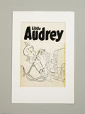 Original Comic Art:Covers, Warren Kremer - Little Audrey #119 Cover Original Art (Harvey,1970s). In a very Dot-esque cover, Audrey sucks the daisi...