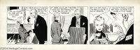Alex Raymond - Rip Kirby Daily Comic Strip Original Art, dated 10-19 (King Features Syndicate, circa 1950s). It's tea an...