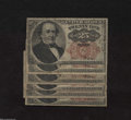 Fractional Currency:Fifth Issue, Six Fr. 1308 25c Fifth Issue Very Good.