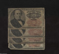 Fractional Currency:Fifth Issue, Quartet of Fr. 1308 25c Fifth Issue Very Good.Four Walkers ... (4notes)
