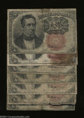 Fractional Currency:Fifth Issue, Seven Fr. 1265 or 1266s 10c Fifth Issue Good or Better. ... (7notes)