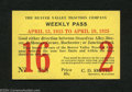 Miscellaneous:Other, Beaver Valley Traction Co. Weekly Pass April 1925