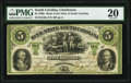 Charleston, SC- Bank of the State of South Carolina $5 Aug. 15, 1861 G50a PMG Very Fine 20