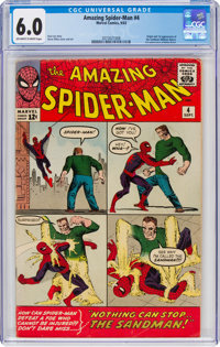 The Amazing Spider-Man #4 (Marvel, 1963) CGC FN 6.0 Off-white to white pages