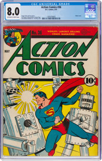 Action Comics #36 (DC, 1941) CGC VF 8.0 Off-white to white pages