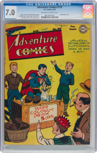 Adventure Comics #119 (DC, 1947) CGC FN/VF 7.0 Off-white to white pages