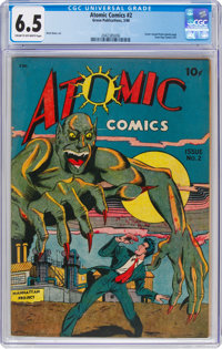 Atomic Comics #2 (Green Publishing Co., 1946) CGC FN+ 6.5 Cream to off-white pages