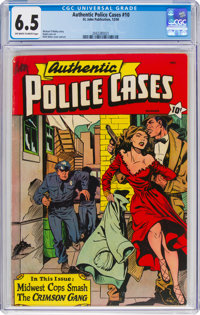 Authentic Police Cases #10 (St. John, 1950) CGC FN+ 6.5 Off-white to white pages
