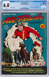 All-Flash #5 (DC, 1942) CGC FN 6.0 White pages