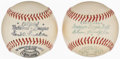 Baseball Collectibles:Balls, Unsigned Reach, Spalding Baseballs With Original Boxes, Lot of 2.... (Total: 2 items)