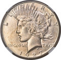 Peace Dollars, 1927-S $1 MS65 NGC. A better date, the 1927-S Peace dollar comes from a mintage of only 866,000 pieces. This Gem example di...