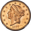 1877-S $20 MS62 Prooflike NGC. This is the second-finest Prooflike 1877-S double eagle certified at NGC. Only an MS63 Pr...