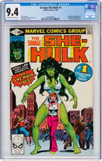 The Savage She-Hulk #1 (Marvel, 1980) CGC NM 9.4 Off-white to white pages