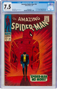 The Amazing Spider-Man #50 (Marvel, 1967) CGC VF- 7.5 Off-white to white pages