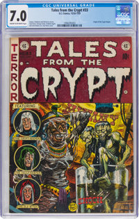 Tales from the Crypt #33 (EC, 1952) CGC FN/VF 7.0 Cream to off-white pages